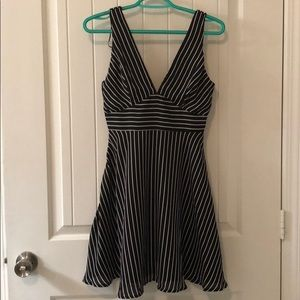 Small black and white striped Lulus dress